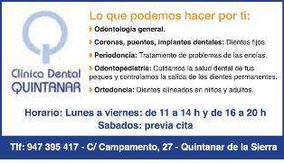 Publicidad Clinica dental Quintanar Interior