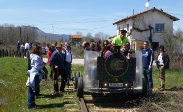 Exhibición de los usos de la vía en Salas.