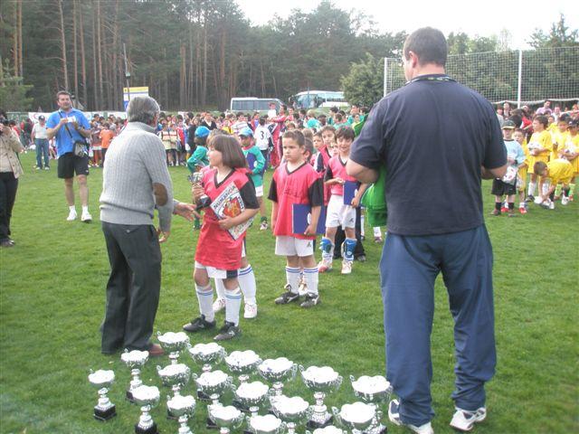Entrega de trofeos en una de las últimas ediciones del torneo.