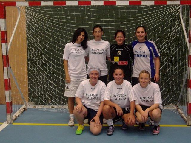 Jugadoras del Bodegas Salinas, ganadoras del torneo.