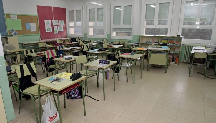 Dependencias del colegio de Navaleno.
