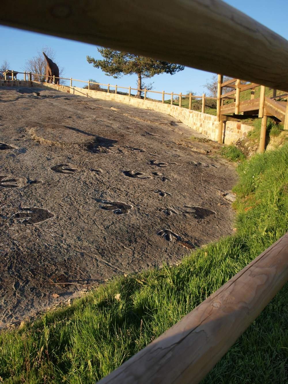 Yacimiento de huellas en Regumiel de la Sierra.