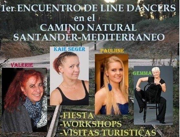 Parte del cartel dell Encuentro de Line Dancers