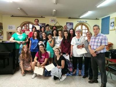 Curso de canto organizado por la escuela municipal de musica de Salas