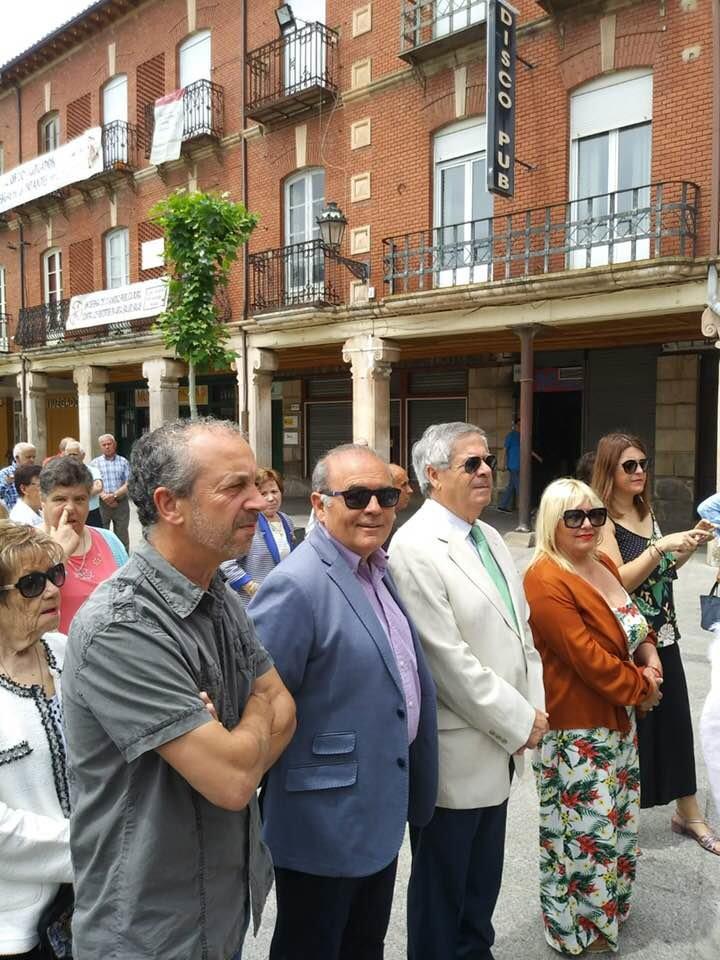 Loli de Domingo Ligero durante el Corpus Chirsti, su primer acto oficial como concejala del PSOE.